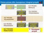 proses proses dlm manajemen integrasi proyek