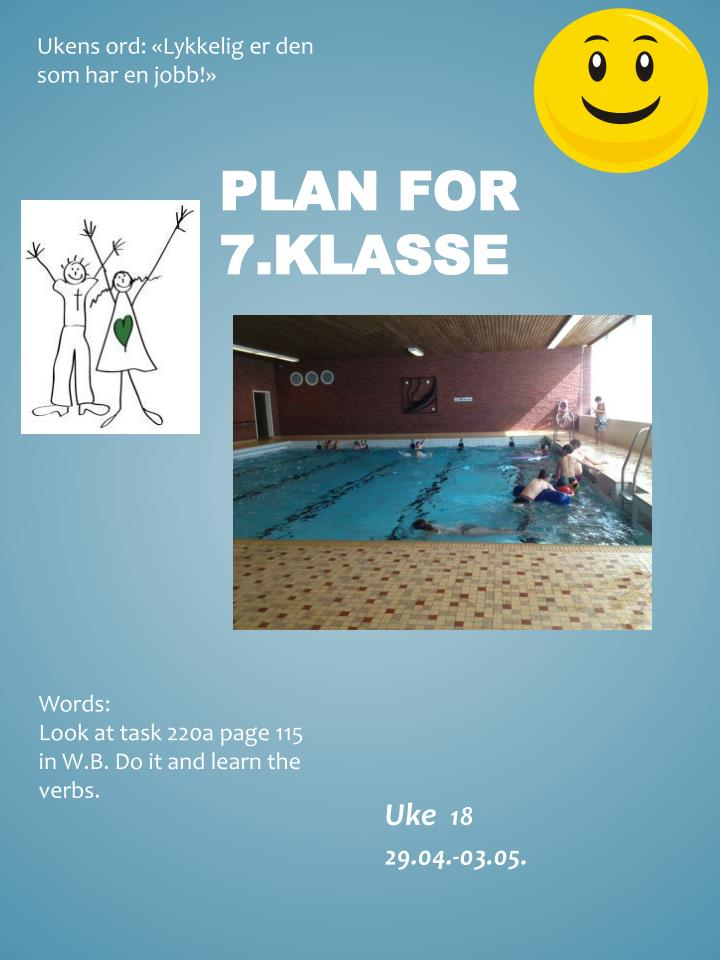 Plan for 7 klasse
