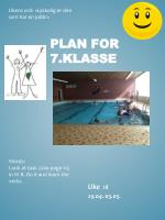 plan for 7 klasse