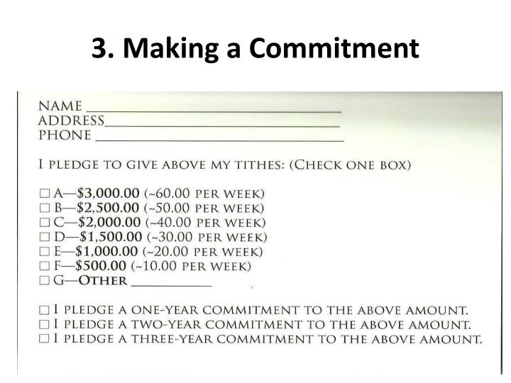 3. Making a Commitment