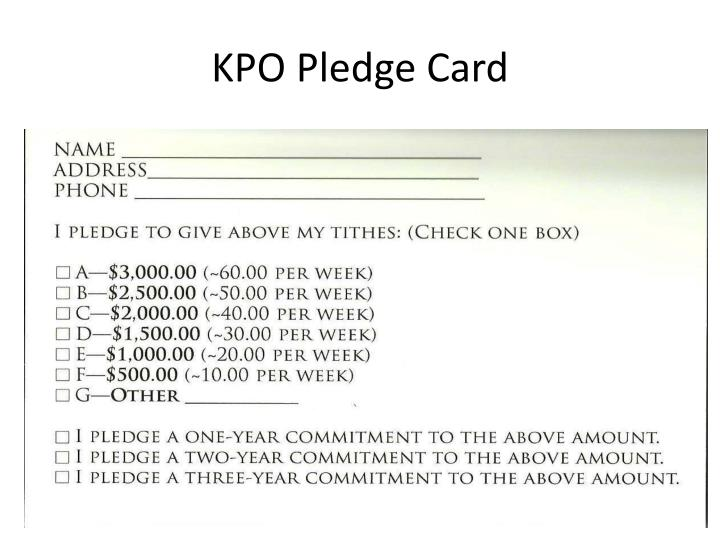 KPO Pledge Card