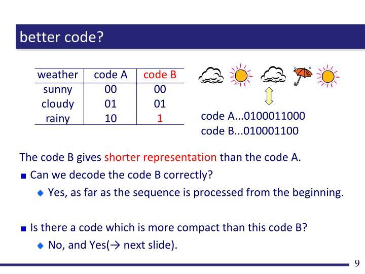 better code?