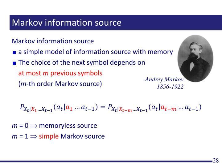 Markov information source