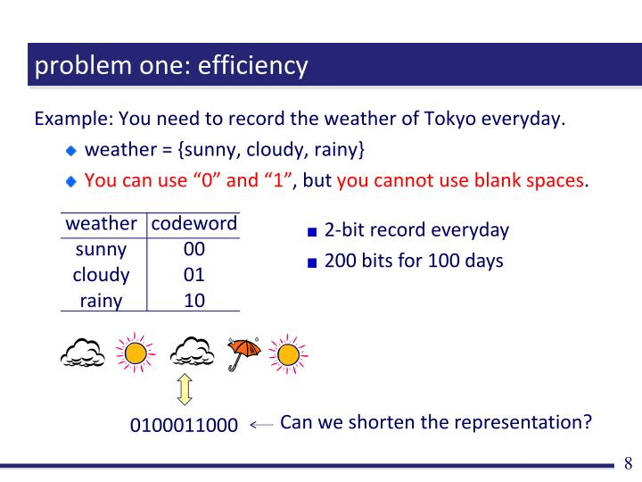 problem one: efficiency
