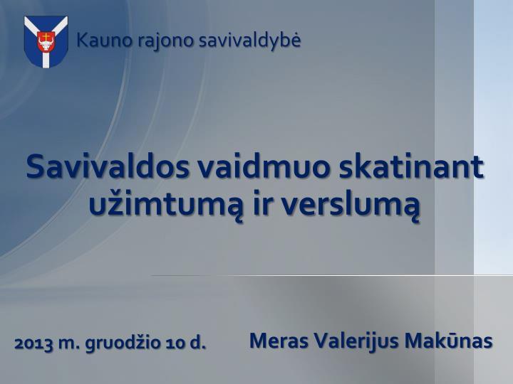 Savivaldos