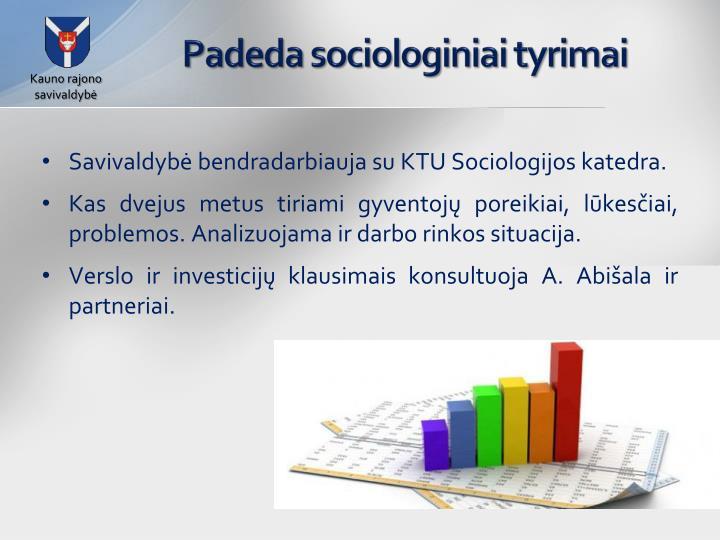 Padeda sociologiniai tyrimai