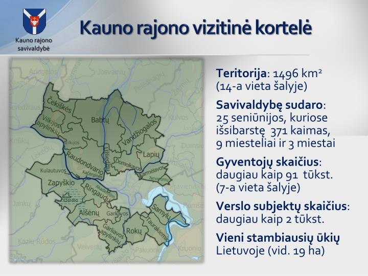 Kauno rajono vizitinė kortelė