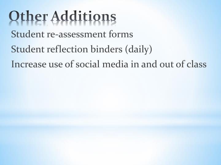 Student re-assessment forms