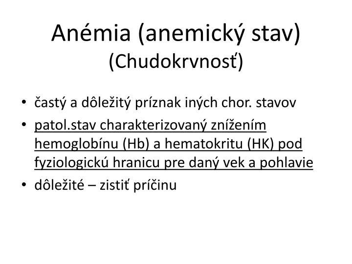 Anémia (anemický stav)