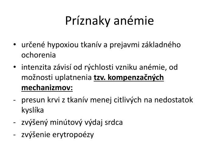 Príznaky anémie