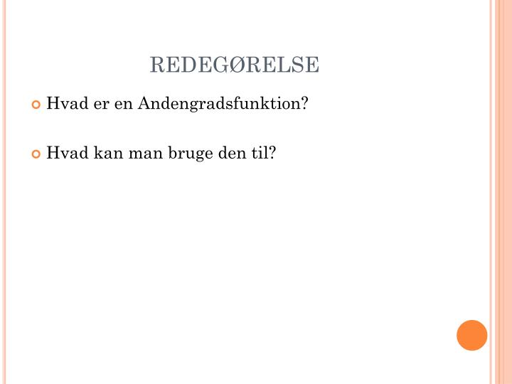 REDEGØRELSE