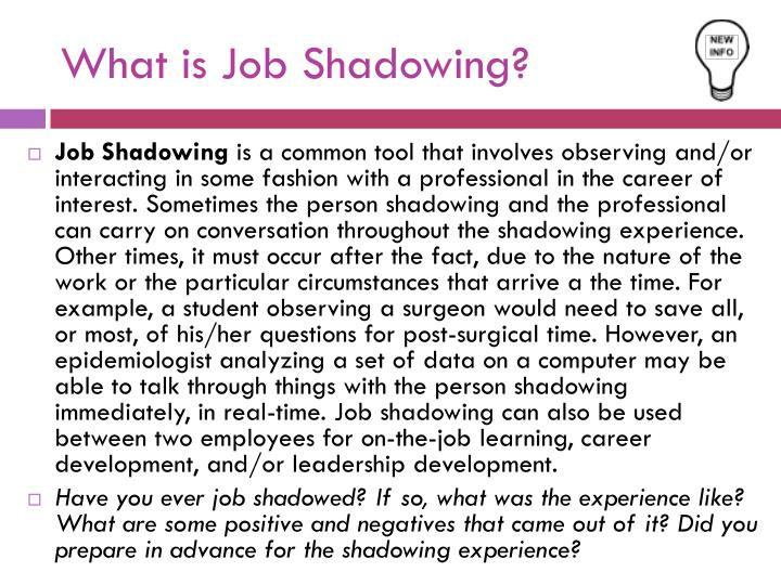 What is Job Shadowing?