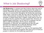 what is job shadowing