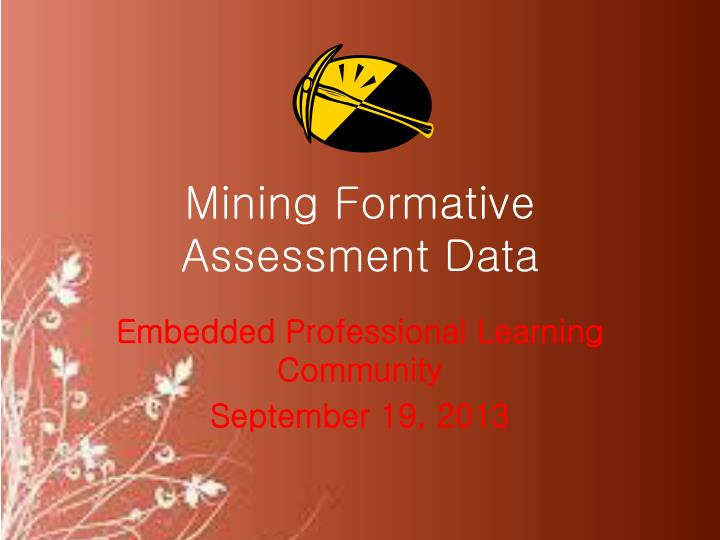 Mining Formative Assessment Data