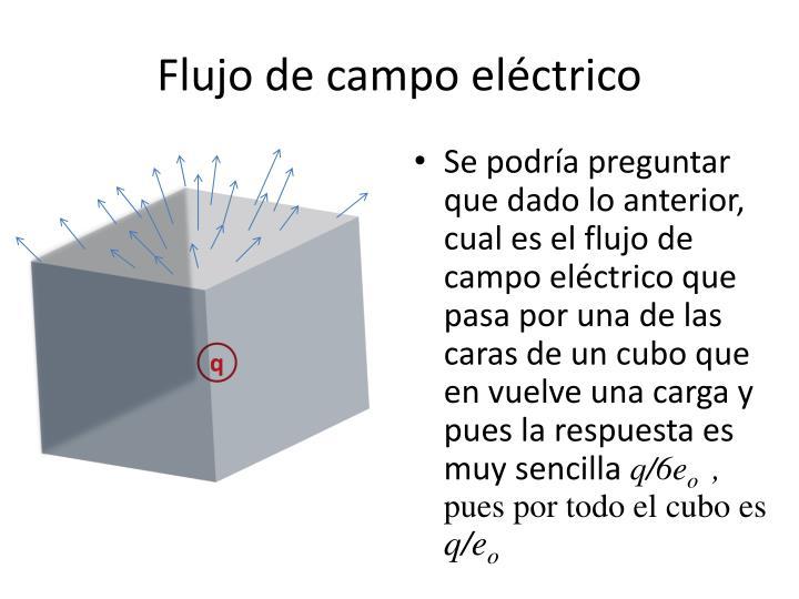 Flujo de campo eléctrico