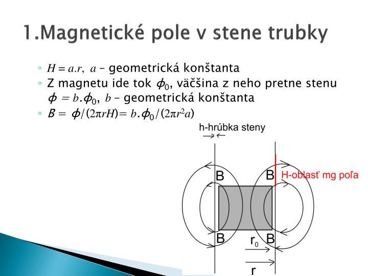 1.Magnetické pole v stene trubky