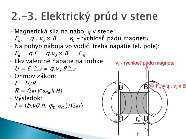 2.-3. Elektrický prúd v stene
