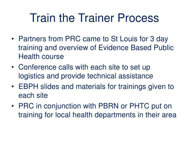 Train the Trainer Process