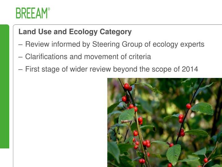 Land Use and Ecology Category