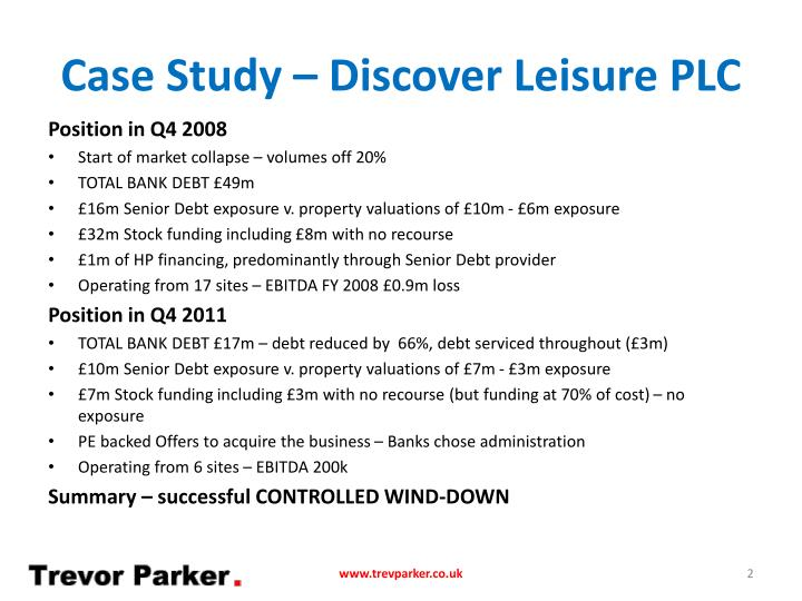 Case study discover leisure plc1