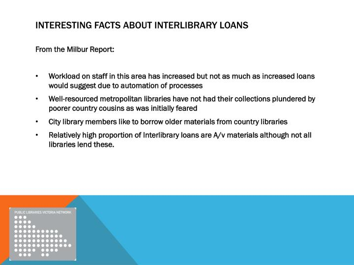 Interesting facts about interlibrary loans