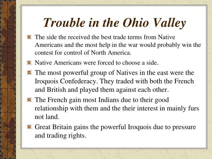 Trouble in the Ohio Valley