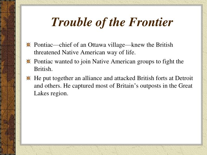 Trouble of the Frontier