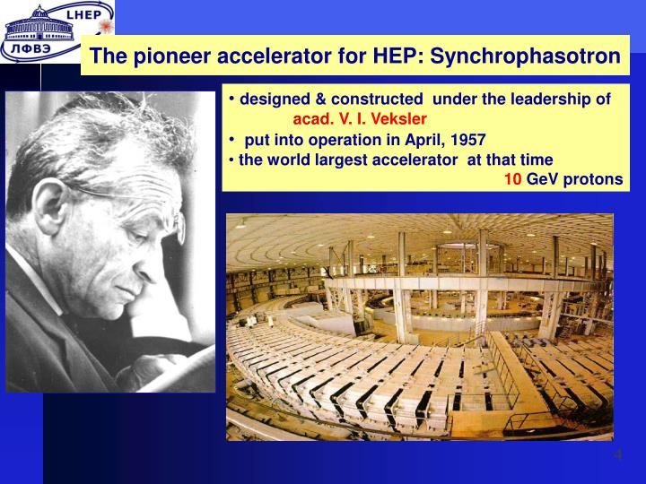 The pioneer accelerator for HEP: Synchrophasotron