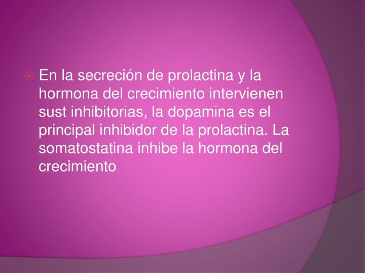 En la secreción de prolactina y la hormona del crecimiento intervienen
