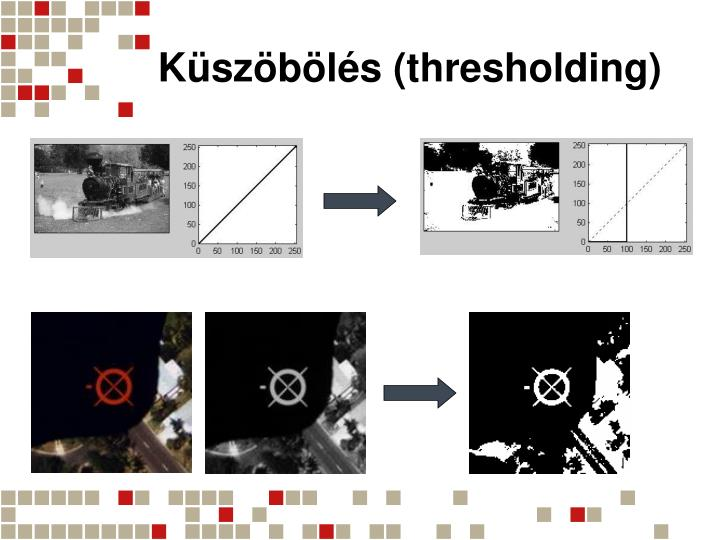 Küszöbölés (thresholding)