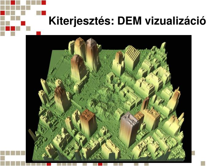 Kiterjesztés: DEM vizualizáció