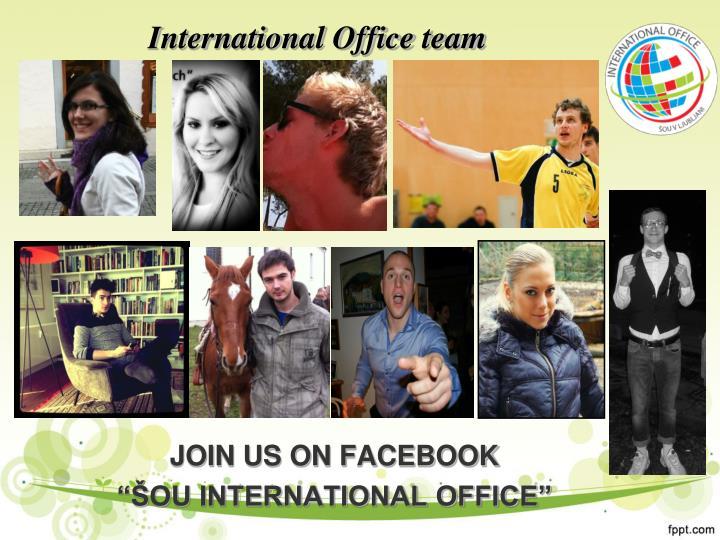 International Office team