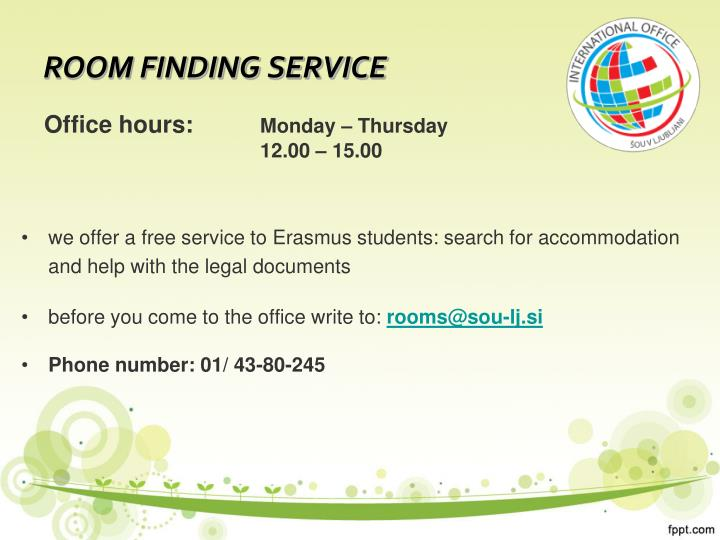 ROOM FINDING SERVICE