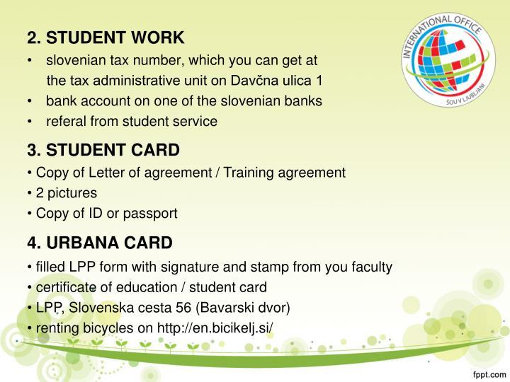2. STUDENT WORK