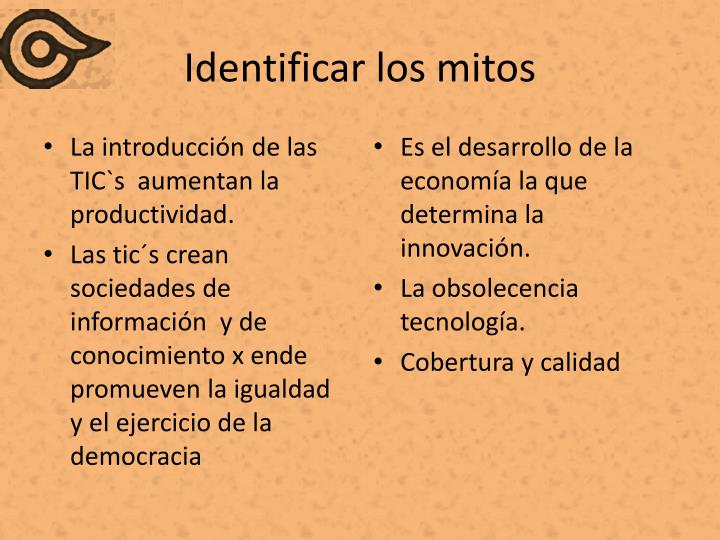 Identificar los mitos