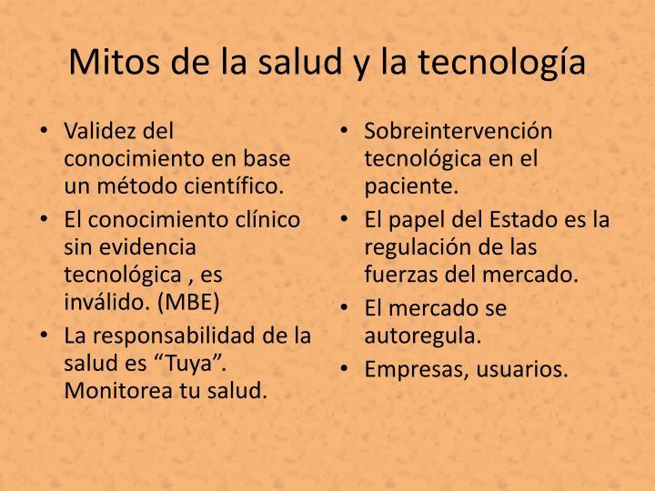 Mitos de la salud y la tecnología