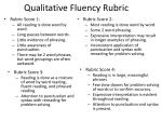 qualitative fluency rubric