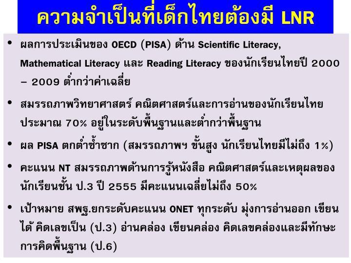 ความจำเป็นที่เด็กไทยต้องมี
