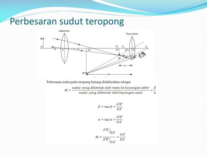 Perbesaran sudut teropong