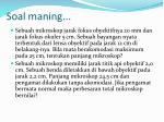 soal maning