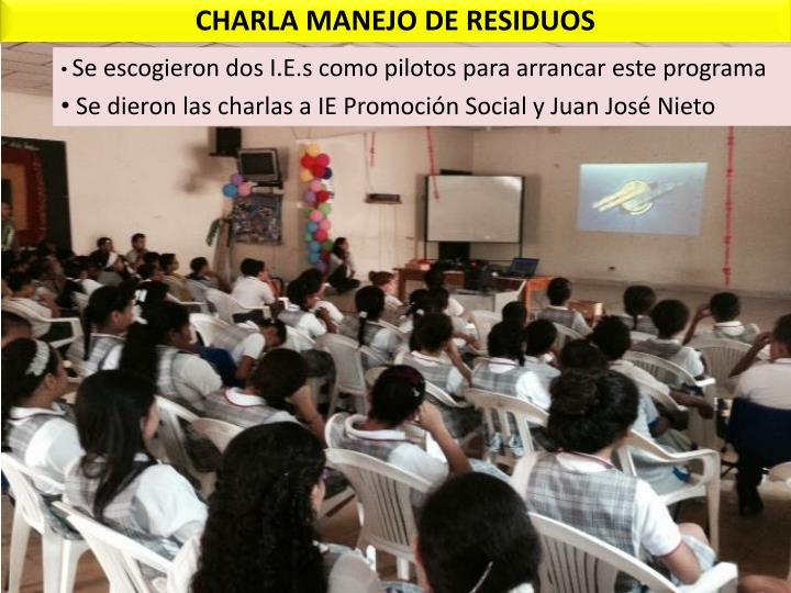 CHARLA MANEJO DE RESIDUOS