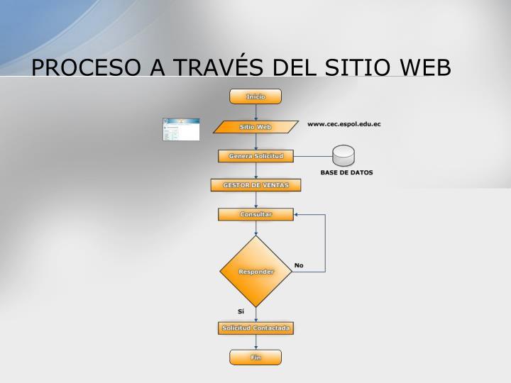 PROCESO A TRAVÉS DEL SITIO WEB