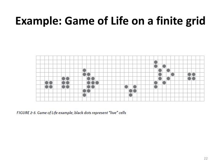 Example: Game of Life on a finite grid