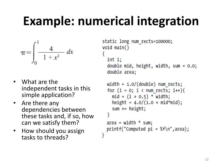 Example: numerical integration