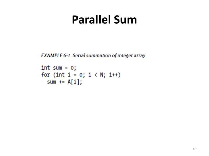 Parallel Sum
