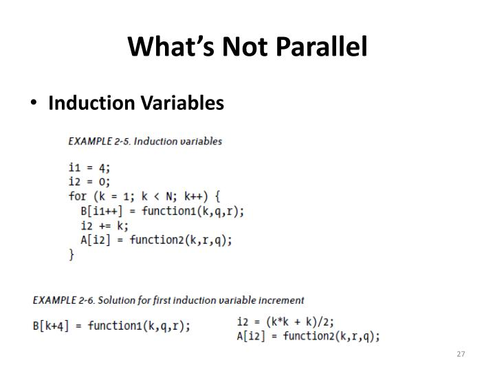 What's Not Parallel