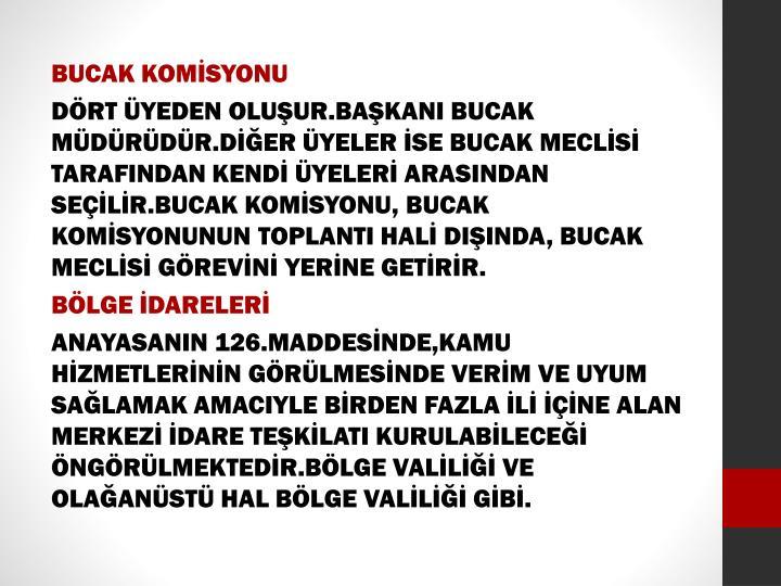 BUCAK KOMİSYONU