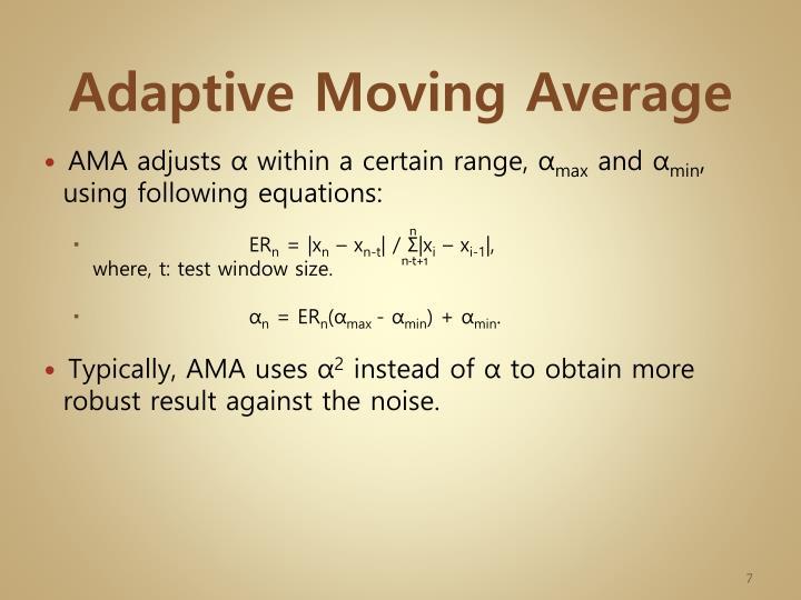 Adaptive Moving Average