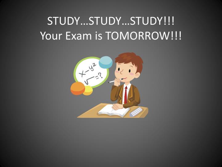 STUDY…STUDY…STUDY!!!