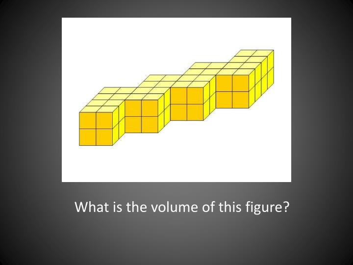 What is the volume of this figure?